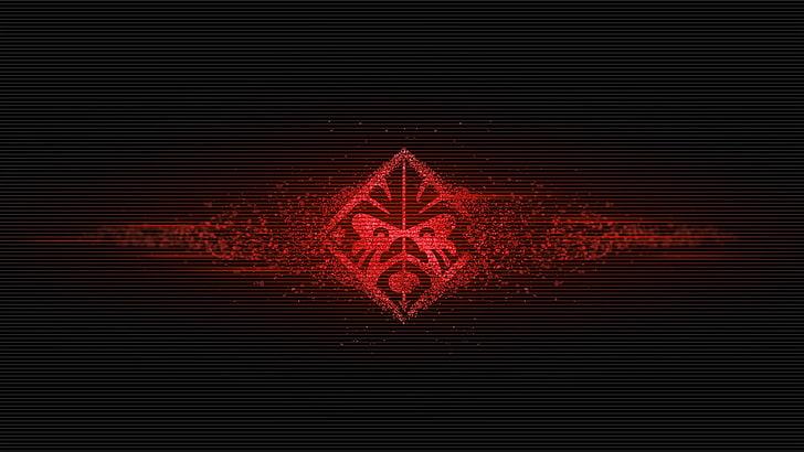 HD wallpaper: HP Omen logo, red icon, Hewlett Packard, black.