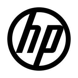 Hp Logo Icon of Line style.