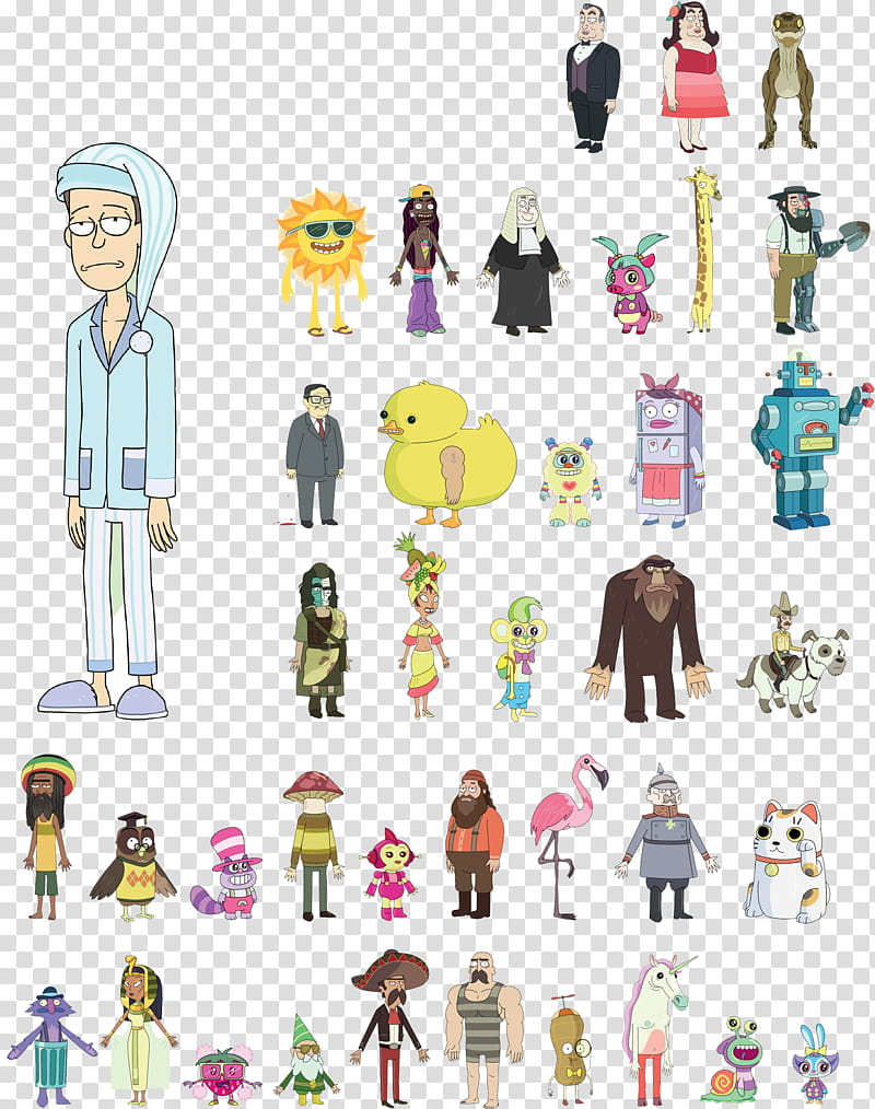 Rick and Morty HQ Resource , cartoon character lot.