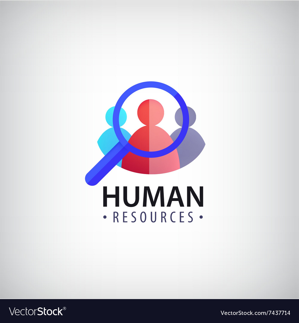 Human resources people search hr logo.