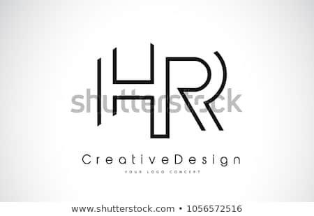 HR H R Letter Logo Design in Black Colors. Creative Modern.