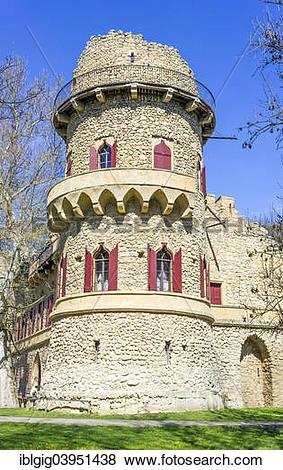 """Pictures of """"John's Castle or Januv Hrad, near Lednice, Breclav."""