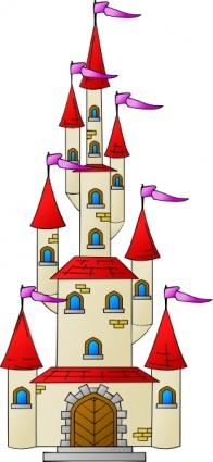 King Queen Castle Fantasy Flags Free Vector.