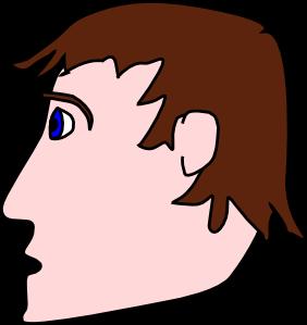 Head Man Side clip art Free Vector / 4Vector.