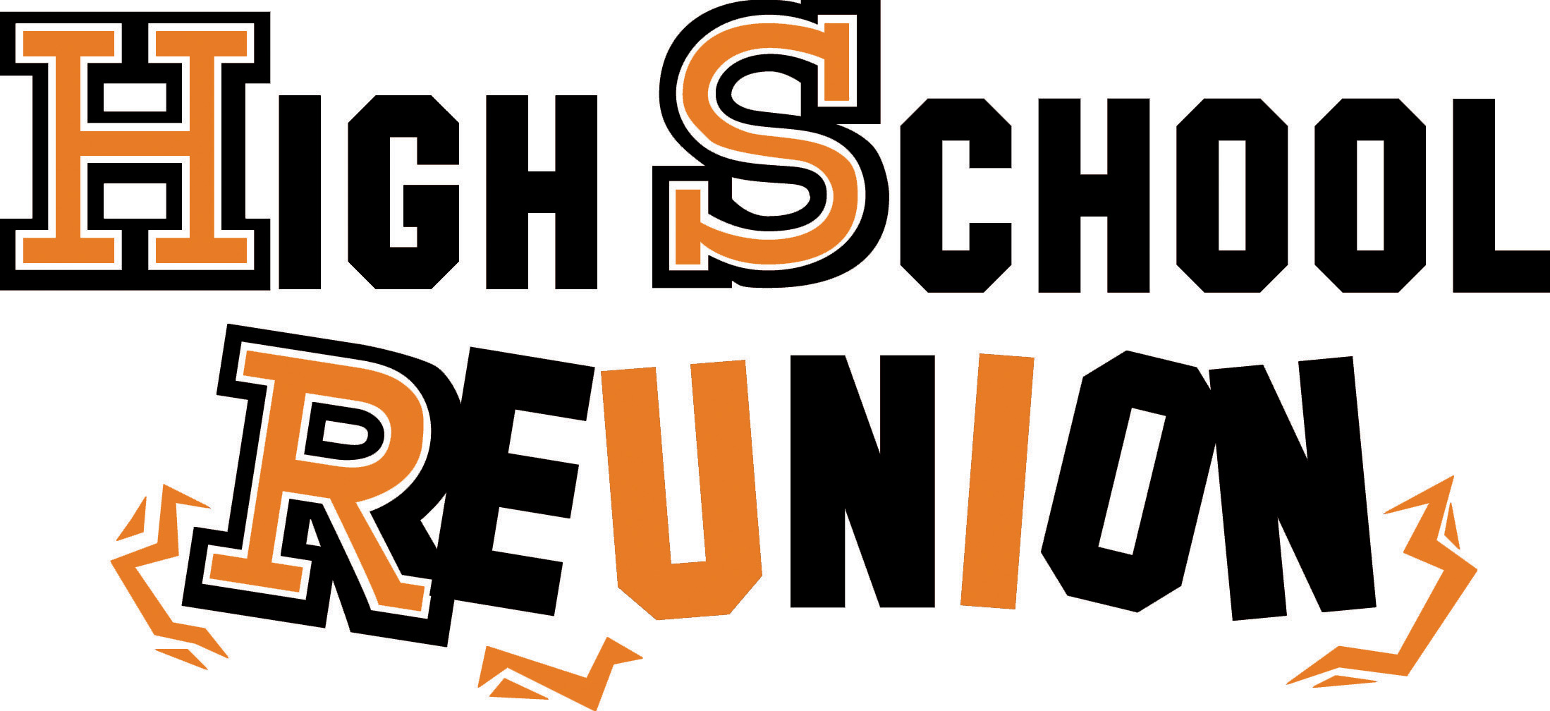 High School 40th Reunion Clipart.