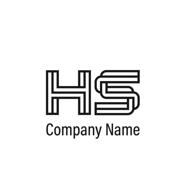Initial Letter Hs Logo Template Template for Free Download on Pngtree.