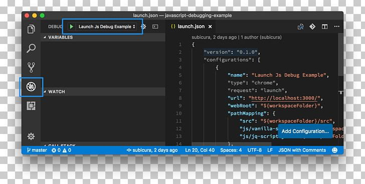 HTML JavaScript Debugging Visual Studio Code Programmer PNG.