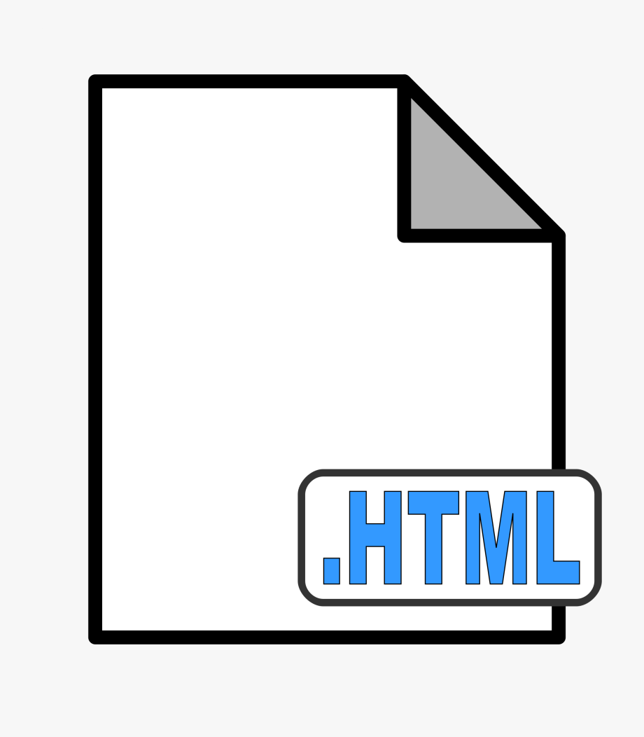 Clipart Html Document.