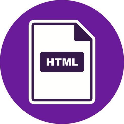 HTML Vector Icon.