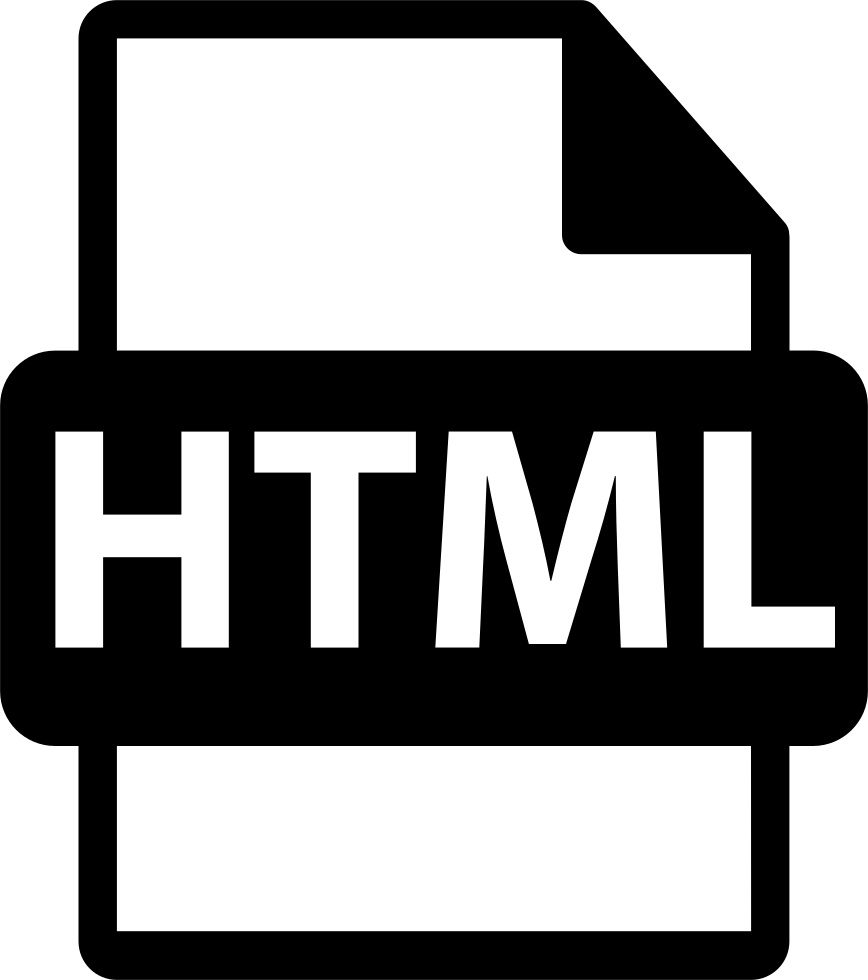 Html File Extension Interface Symbol Svg Png Icon Free Download.