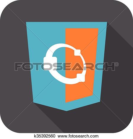 Clipart of web develoment html5 shield sign.