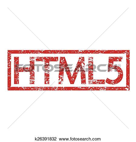 Clipart of Stamp text HTML5 k26391832.