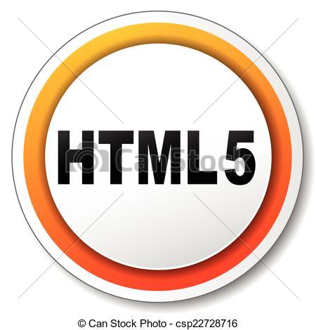 Vector Clip Art of html5 icon.