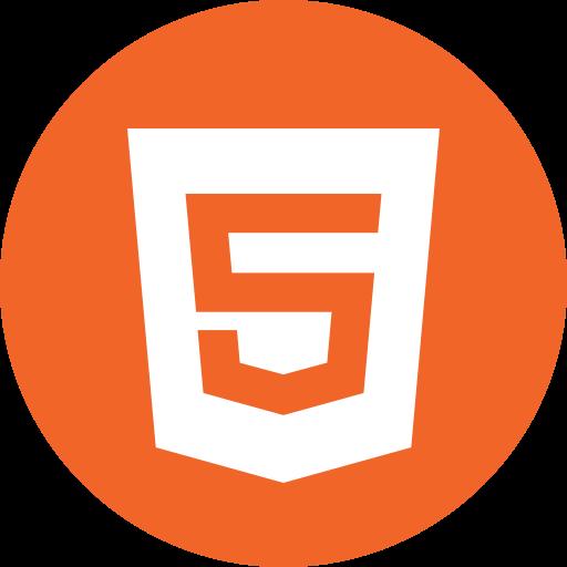 Circle, html5, programming, round icon icon.