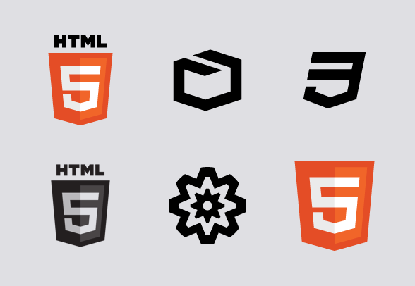 HTML5 icons by.
