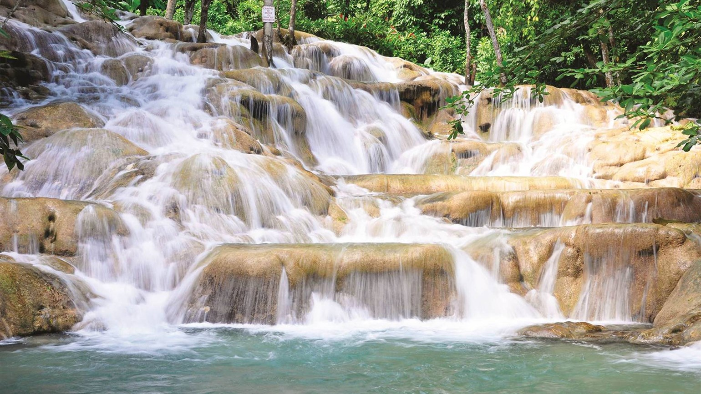 Dunn\'s River Falls, Jamaica 2019.