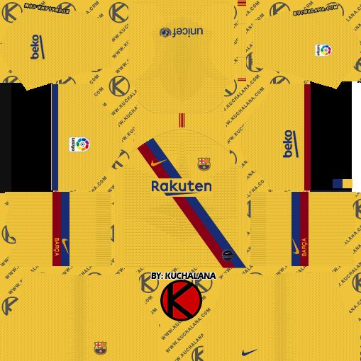 FC Barcelona 2019/2020 Season Kits for Dream League Soccer.