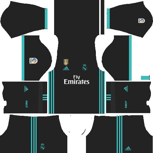 Real Madrid Kits and Logo URL Free Download.
