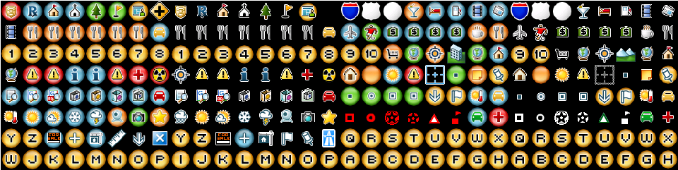 Icons for Google Map.