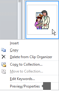 Add clip art to your file.
