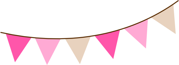 Colorful bunting banner clipart png transparent clker.
