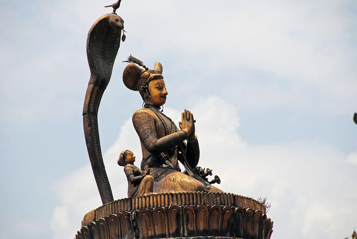 King Yoganarendra Malla\'s Statue, Nepal 2019.