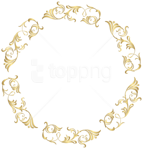Free collection of Gold floral png. Download transparent clip arts.