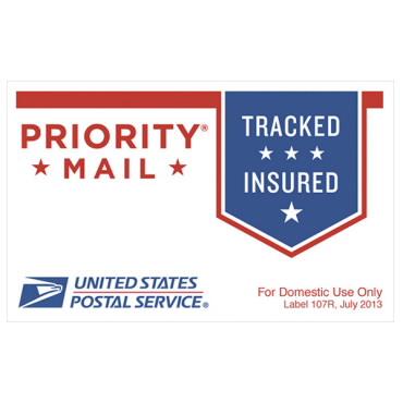 Priority Mail Sticker.