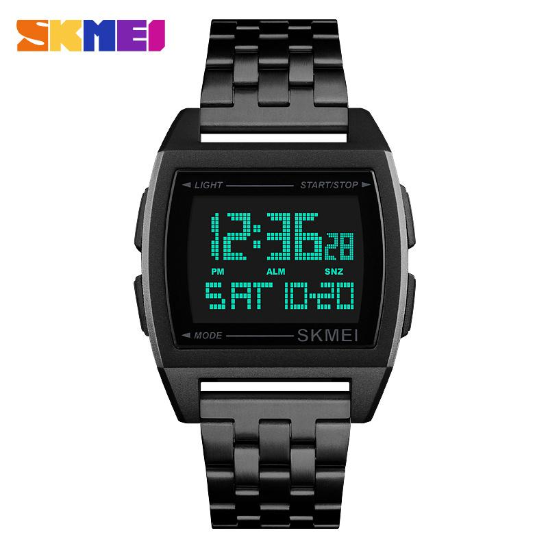 Images of a digital wrist watch.