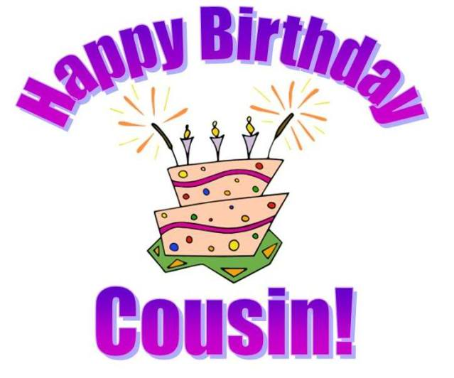 Happy birthday cousin clipart clipart images gallery for.