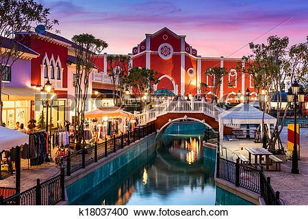 Stock Photography of The Venezia Hua Hin, a shopping venue in.