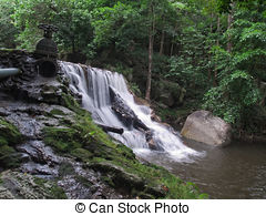 Stock Photos of Huai Yang Waterfall.