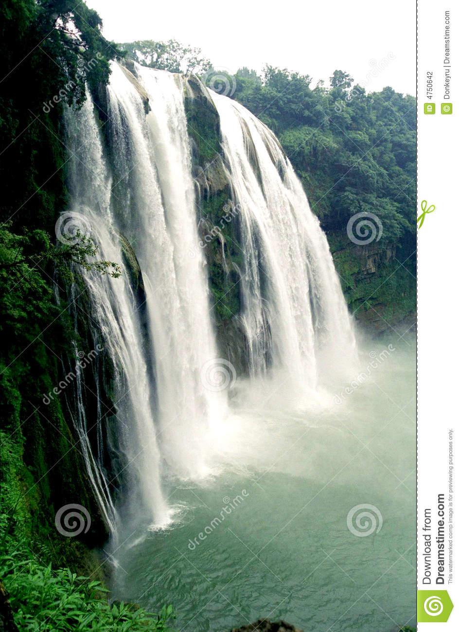 Huangguoshu Waterfall Side View Stock Photography.