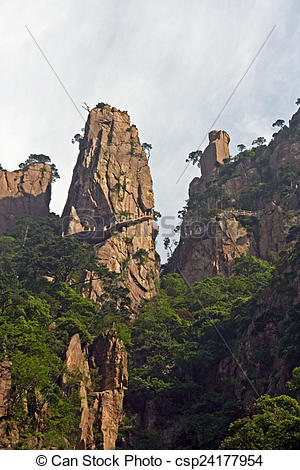 Stock Images of Spectacular rocks and peaks of Huang Shan.