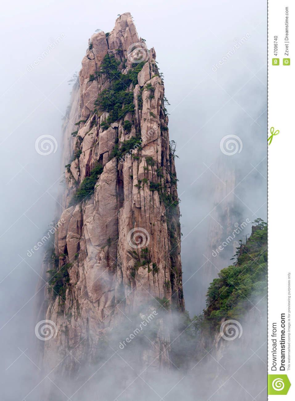 Huangshan Mountain (Yellow Mountain), Anhui, China. Stock Photo.