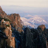 Picture of High angle view of mountain, Huangshan Mountains.