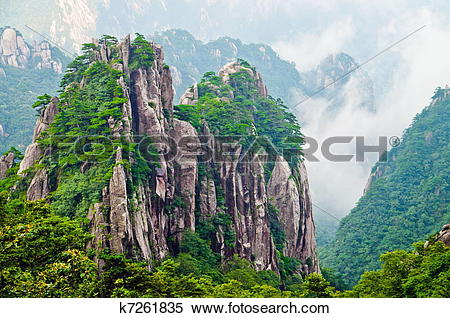 Stock Image of Yellow Mountain Huangshan k7261835.
