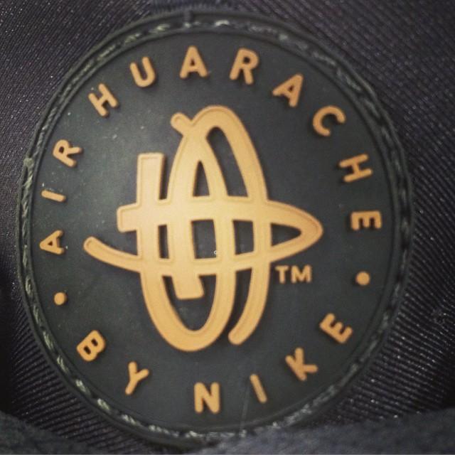 Nike #Air #Huarache #logo #shoes #darkgray #orange #runni.