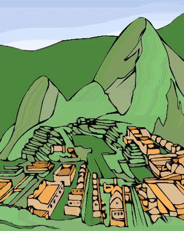 Machu Picchu Clip Art.
