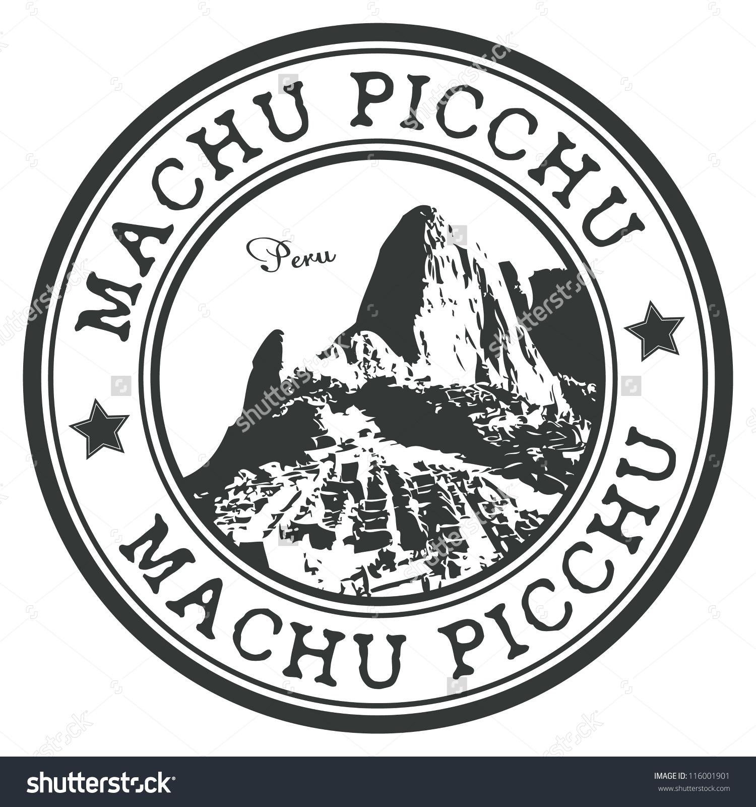 Machu Picchu Stamp Stock Vector 116001901.