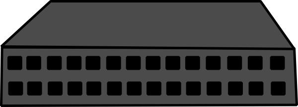 Network hub clipart.