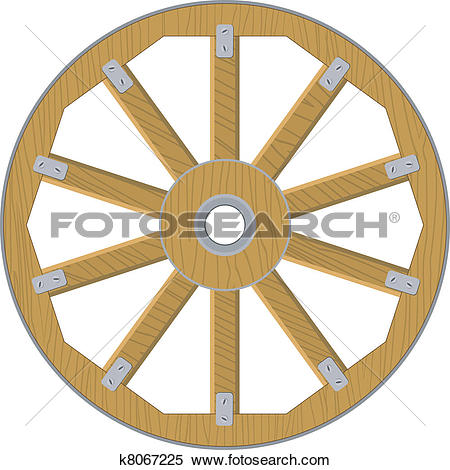 Clip Art of Old wooden wheels k9519667.