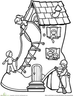 Shoe old mother hubbard shoe house clipart.