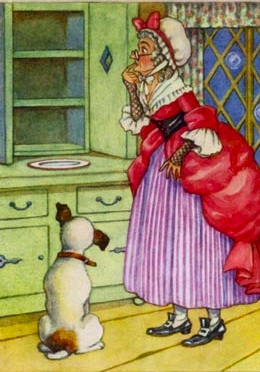 Old Mother Hubbard Clipart.