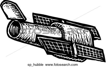 Clipart of Hubble Telescope sp_hubble.