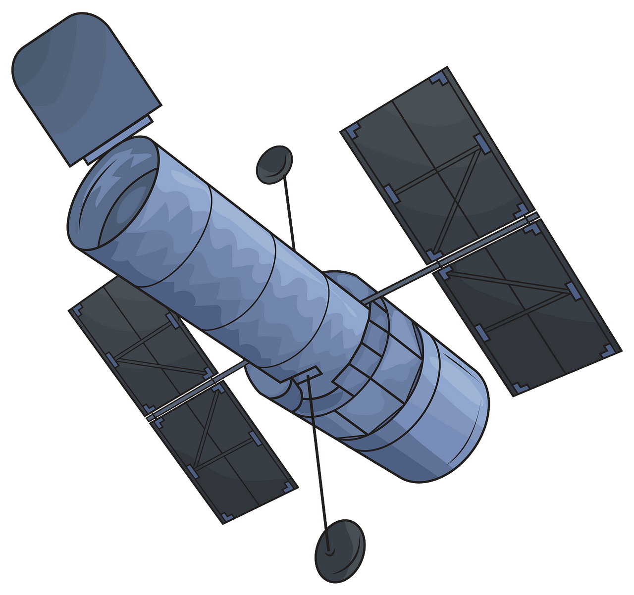 Hubble Space Telescope clipart. Free download..