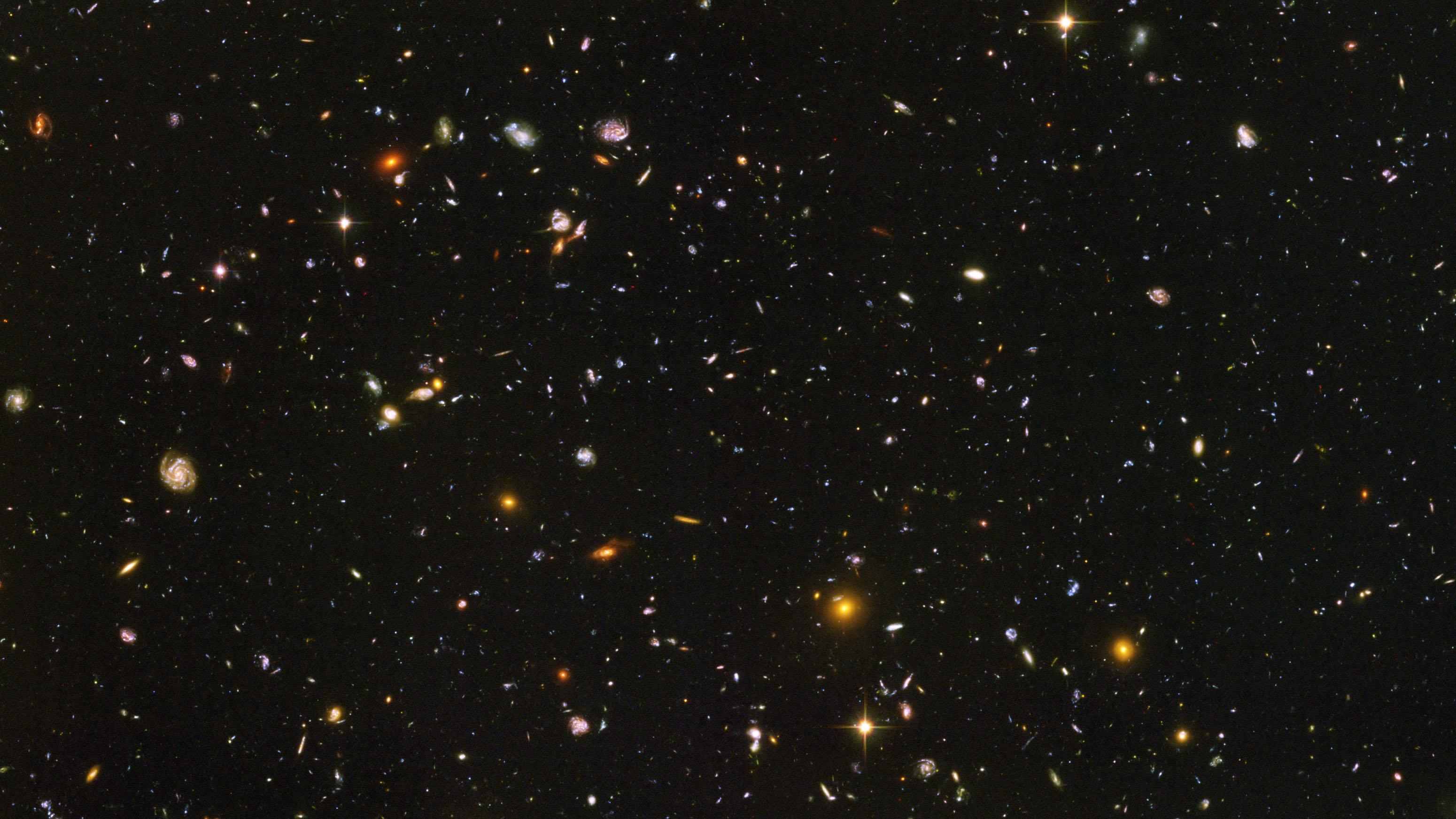 Hubble Deep Field Image Clipart.