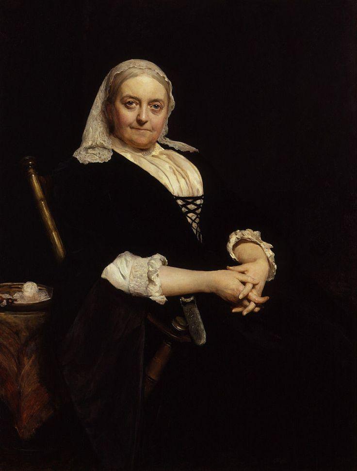 Dinah Maria Craik (née Mulock) by Sir Hubert von Herkomer.jpg.