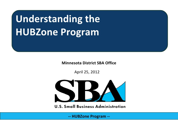 Understanding the HUBZone Program.