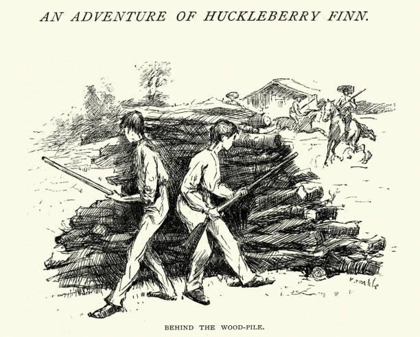 Huckleberry Finn Illustrations, Royalty.